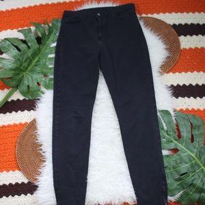 American Apparel Skinny Jeans Black Ankle Zipper